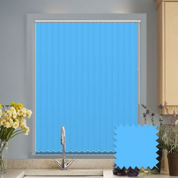 Optimum Blue Blackout Vertical Blinds